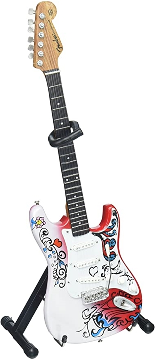 jimi hendrix mini fender strat monterey guitar at the music stand. Black Bedroom Furniture Sets. Home Design Ideas