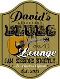 Personalized Legendary Blues Lounge Sign