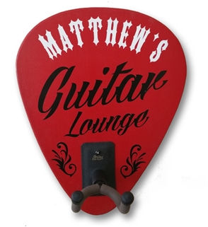 Personalized Red Guitar Lounge Guitar Holder