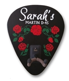 Personalized Roses Sign and Guitar Holder
