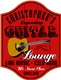 Personalized Red Guitar Lounge Sign