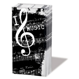 I Love Music Pocket Pack Tissues
