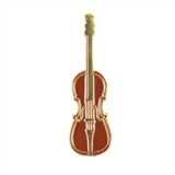 Violin Enameled Pin