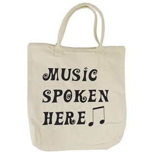 Music Spoken Here Canvas Tote