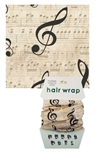 Musical Fashion Mask and Hair Wrap