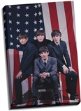 Beatles US Flag Canvas