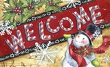Holly Jolly Holiday Welcome Mat