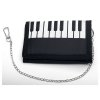 Piano Keys Wallet with Chain