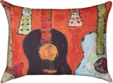 Rectangle Guitars Indoor/Outdoor Pillow