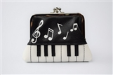 Keys & Clef & Notes Coin Purse