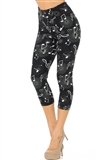Midnight Magic Musical Notes Capri Leggings