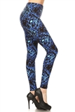 Deep Blue Ocean Musical Notes Leggings