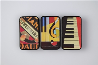 Modern Art Music Slide Tin with Peppermints