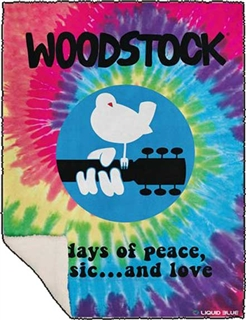 Woodstock Festival Throw Blanket