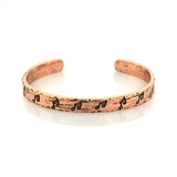 Notes Engraved Copper Cuff Bracelet