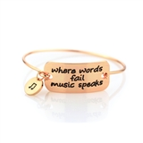 Where Words Fail Copper Bracelet