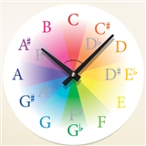 Colorful Chromatic Scale Wall Clock