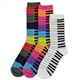 Snazzy Keyboard Set of 3 Mid-Calf Socks
