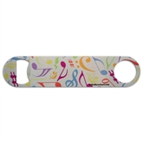Colorful Notes & Clefs Bottle Opener