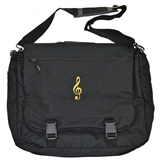 Black Expandable Messenger Bag