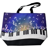 Piano Keys and Colorful Notes Weekender Tote