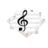 G-Clef with Music Beverage Napkins