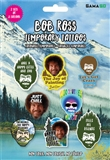 Bob Ross Non-Toxic Temporary Tattoos