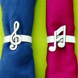 Musical Notes Napkin Rings