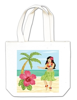 Dancing Hula Girl Trinkets Bag