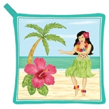 Dancing Hula Girl Potholder
