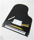 Black Piano Chalkboard