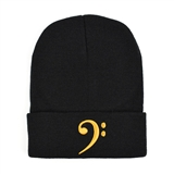 Bass Clef Knitted Stocking Hat