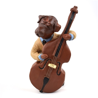 Jazzy Bass Dog Figurine