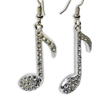Genuine Crystal 8th Note Earrings