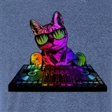 Techno-Color DJ Cat T Shirt