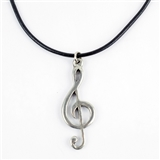 Treble Clef Statement Necklace