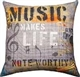 Music Makes Life Noteworthy Pillow