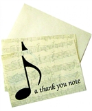 A Thank You Note- Boxed Notecards
