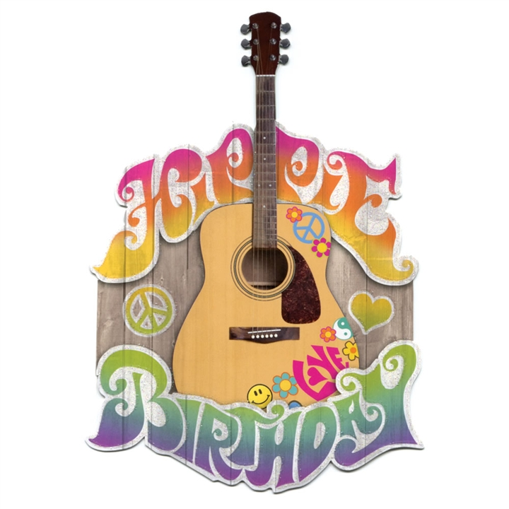 Hippie Birthday Cut Out Greeting Card