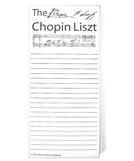 Chopin Liszt Note Pad - Black & White (Individual)