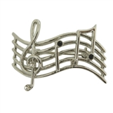 Music Staff Brooch