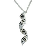 Spiral Keyboard Pendant Necklace