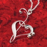 Heart of Clefs Pendant Necklace