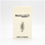 Treble Clef Pewter Pin