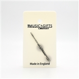 Flute Pewter Pin