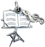 Music Stand Charm/Zipper Pull