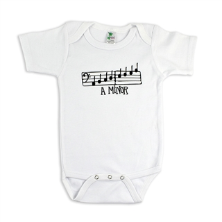 Onesie-A MINOR-White 6 to 12 months