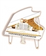 3 D Greeting Card - White Grand Piano