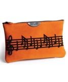 Suede Leather Music Makeup Bag