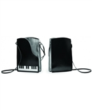 Leather and Suede Piano Cross-Body Handbag